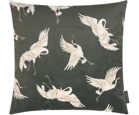 Dubbelzijdige fluwelen kussenhoes Cranes