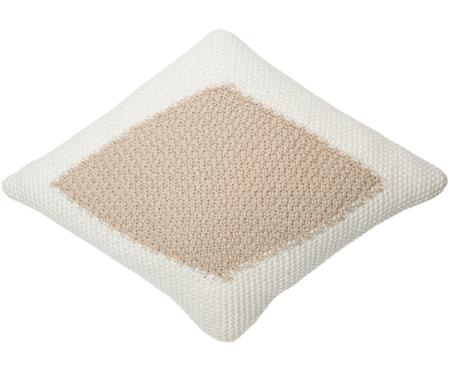 Coussin beige/blanc Candy