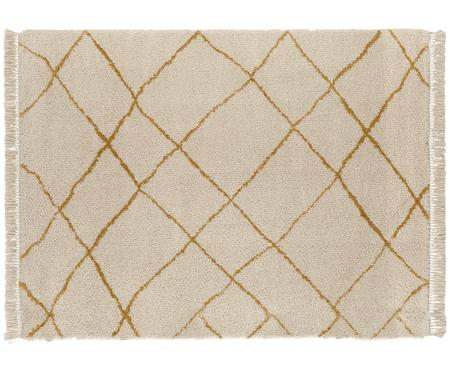 Soffice tappeto Primrose in crema con motivo a rombi