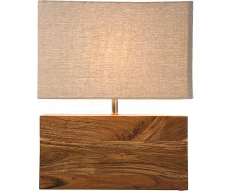 Tischleuchte Rectangular aus Akazienholz