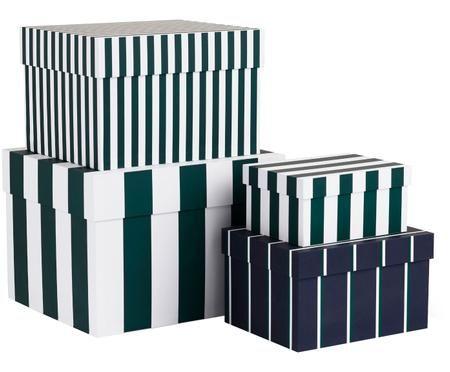 Aufbewahrungsboxen-Set Stripe, 4-tlg.