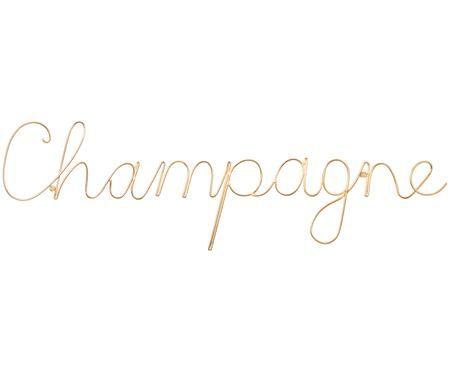 Decorazione da parete in alluminio Champagne