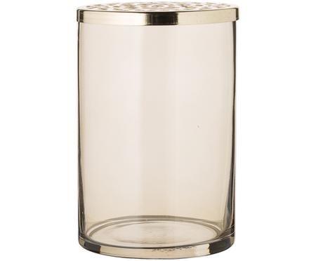 Vaso in vetro con coperchio in metallo Beni