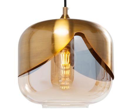 Pendelleuchte Golden Goblet aus Glas
