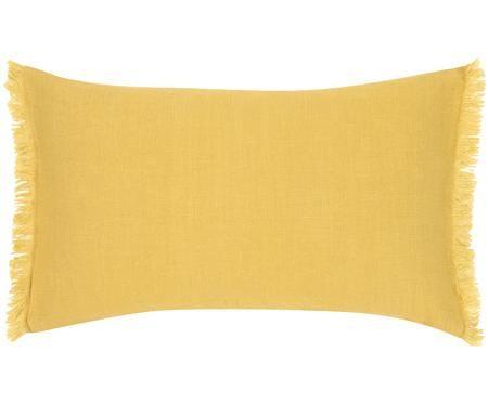 Poszewka na poduszkę z lnu z frędzlami Luana