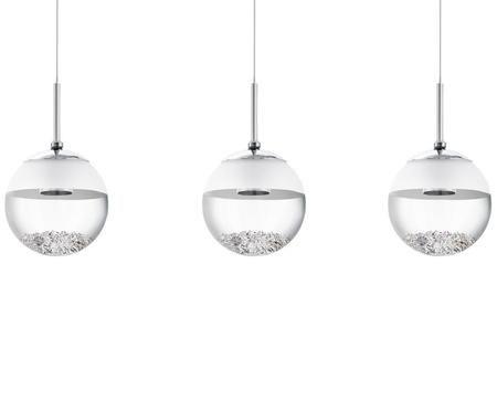 LED Pendelleuchte Montefio mit Glaskristallen