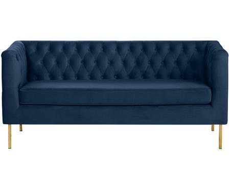Canapé Chesterfield en velours Chiara (2 places)