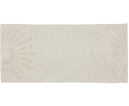 Tapis en coton avec motif en relief Sun
