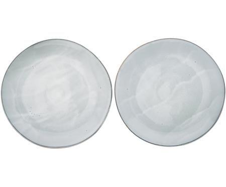 Assiettes plates artisanales Thalia, 2 pièces