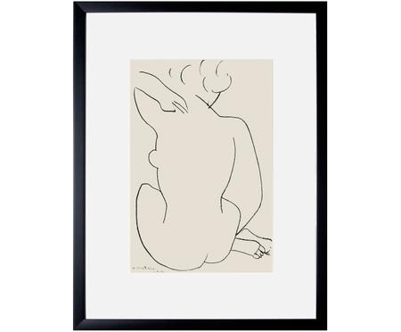 Ingelijste digitale print Matisse: Nu Accroupi