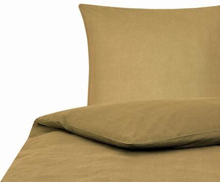 Gewaschene Baumwoll-Bettwäsche Arlene in Gelb