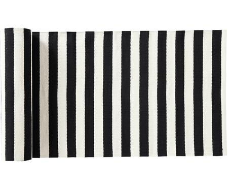 Passatoia a strisce in bianco e nero Fruli