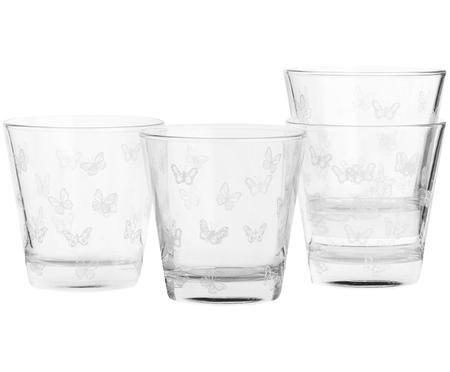 Bicchiere per l'acqua Butterfly 4 pz