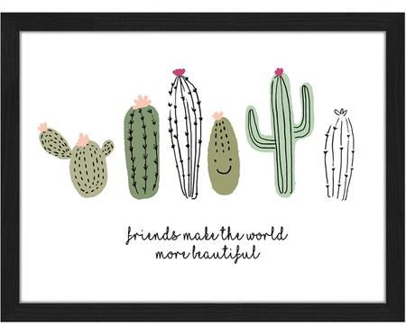 Ingelijste digitale print Cactus