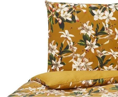 Baumwollsatin-Wendebettwäsche Verano mit Blumenmuster