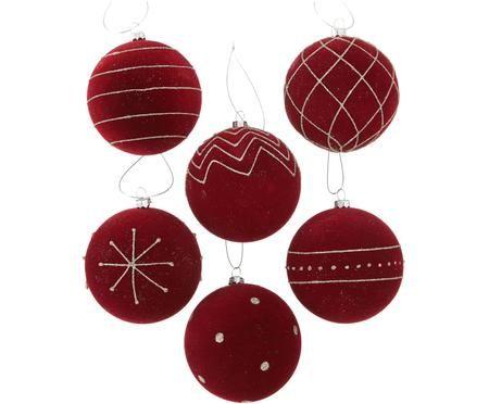 Weihnachtskugel-Set Melitia, 6-tlg.