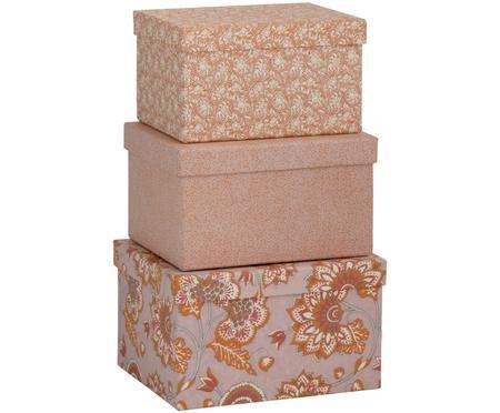 Sada úložných krabic Ankita, 3díly