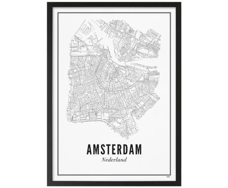 Ingelijste digitale print Amsterdam