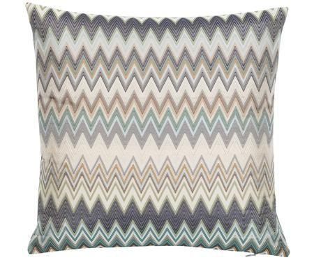 Design kussen Masuleh met zigzag patroon, met vulling