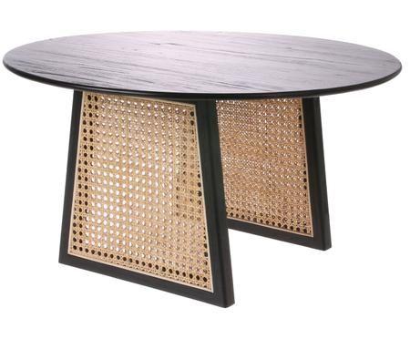 Tavolino rotondo in vimini Retro