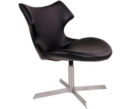 Chaise pivotante en cuir synthétique Zampi