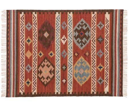 Handgeweven wollen vloerkleed Zohra