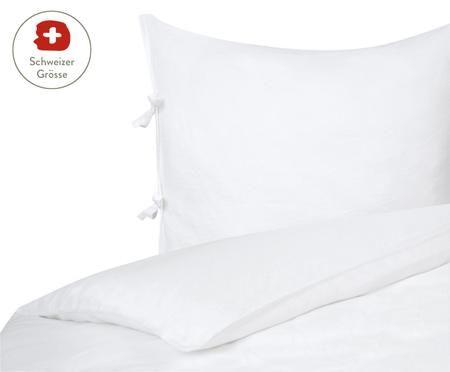 Leinen-Bettdeckenbezug Maria mit Bändern