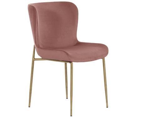Stolička so zamatovým poťahom Tess