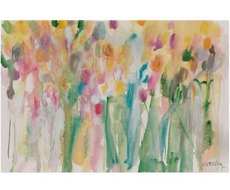 Impresión digital sobre lienzo Tulipanes Costero