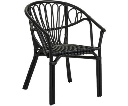 Krzesło z rattanu z podłokietnikami Ganga