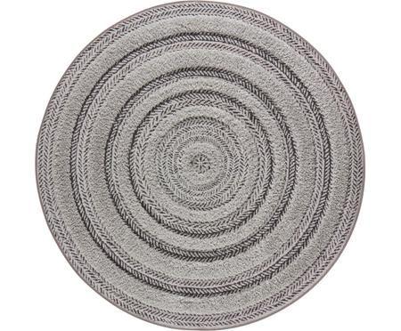 Runder In- & Outdoor-Teppich Nador mit Hoch-Tief-Effekt