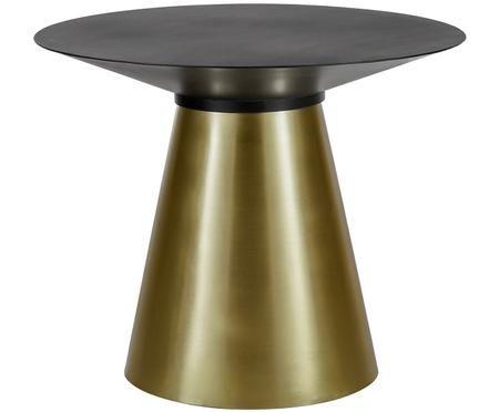 Table ronde en métal noir Selena