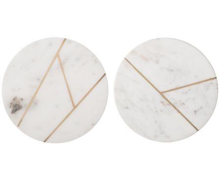 Ensemble de dessous-de-plat en marbre, 2élém.