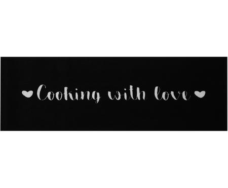Wasbare keukenloper Cooking with Love, antislip
