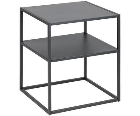Tavolino nero in metallo Newton