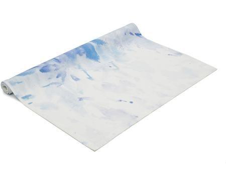Stolový behúň Aquarella , biela/modrá