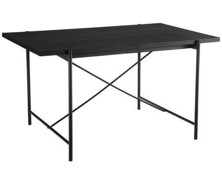 Tavolo con piano in legno nero Mica