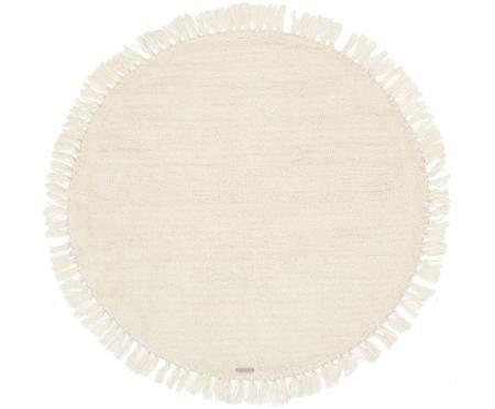 Tapis en laine rond à franges Alma