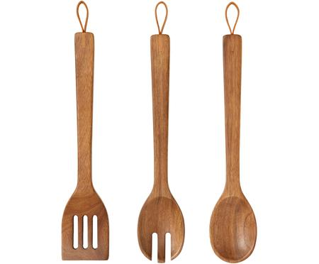 Komplet kuchenny z drewna akacjowego Woody, 3 elem.