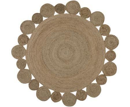 Runder Jute-Teppich Niago, handgefertigt