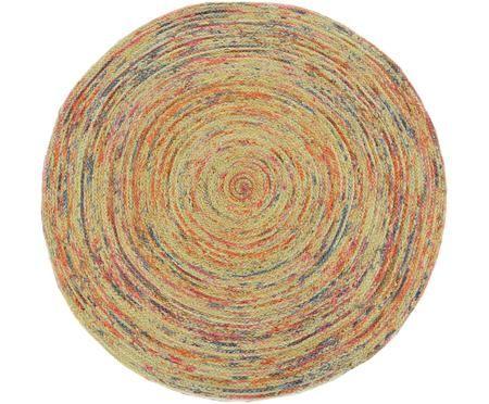 Tapis rond en jute multicolore Roberta