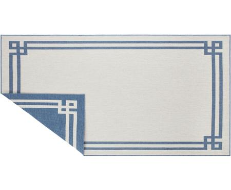 In- & Outdoor-Wendeteppich Manito in Blau/Creme