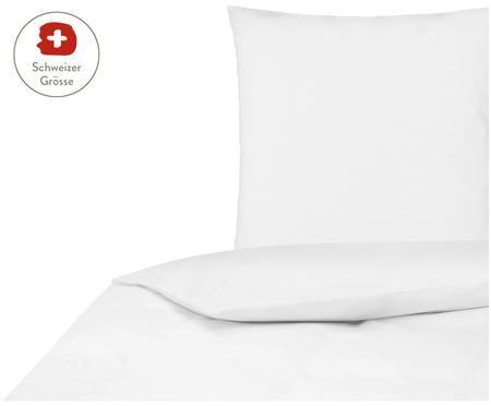 Perkal-Bettdeckenbezug Elsie in Weiss