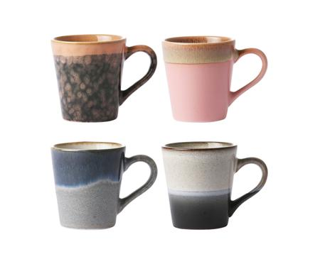 Set 4 tazze da caffè fatte a mano 70's