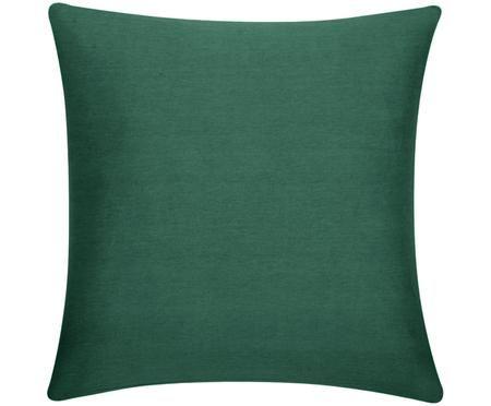 Housse de coussin en coton vert Mads