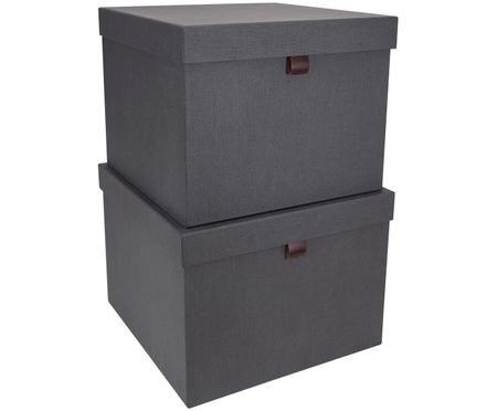 Komplet pudełek do przechowywania Tristan, 2 elem.