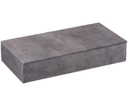 Semišová úložná škatuľa Notabilia Long