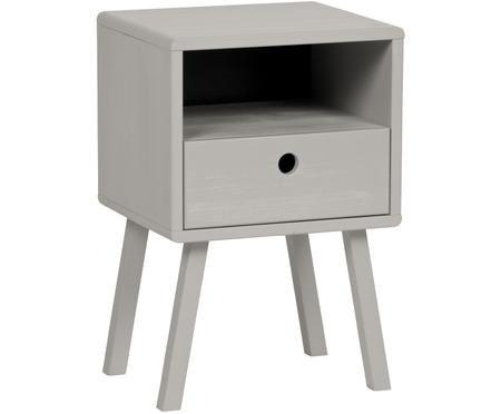 Table de chevet grise avec tiroir Sammie