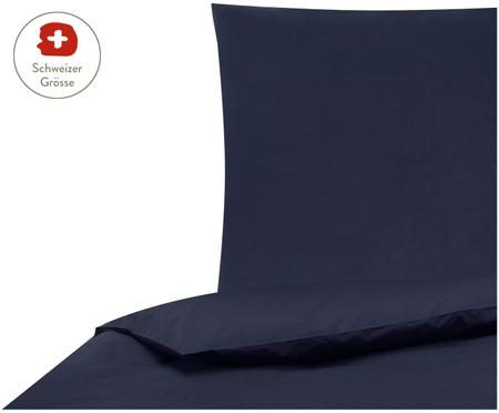 Perkal-Bettdeckenbezug Elsie in Dunkelblau