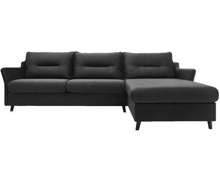Sofa narożna z funkcją spania z aksamitu Loft
